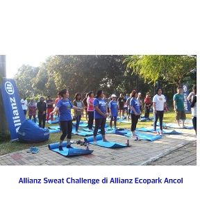 allianz sweat challenge di allianc ecopark ancol