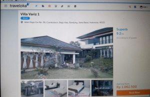 villa untuk liburan keluarga di bandung